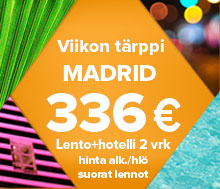 Viikon t&auml;rppi&nbsp;&ndash;Madrid