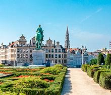 Bryssel, Lento+hotelli