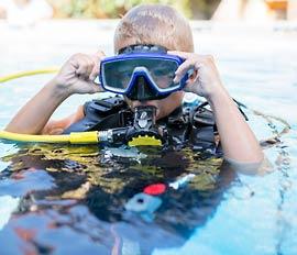 Lasten sukelluskokeilu