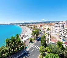 Nizza, Lento+hotelli